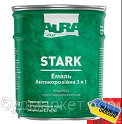 """Грунт-эмаль """"3 в1"""" AURA Stark антикоррозийная №20 (серебристая), 2 кг"""
