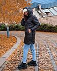 Куртка зимняя батал NOBILITAS 42 - 52 черный плащевка (арт. 20060), фото 2