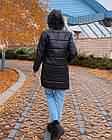 Куртка зимняя батал NOBILITAS 42 - 52 черный плащевка (арт. 20060), фото 3