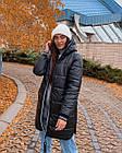 Куртка женская зимняя NOBILITAS 42 - 52 черная плащевка (арт. 20060), фото 4