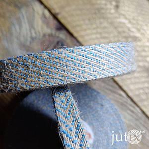 Упаковочная лента (джутовая) - 17 мм Синий