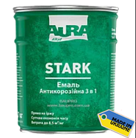 """Грунт-эмаль """"3 в1"""" AURA Stark антикоррозийная №90 (черная), 0,7 кг"""