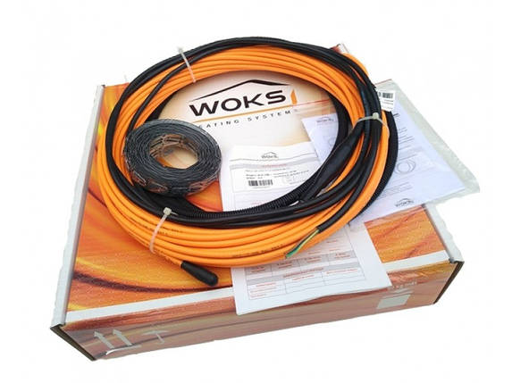 Нагревательный кабель WOKS-10, 1.3 кв.м, 200 Вт под плитку, фото 2