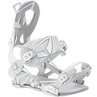 Популярные белые крепления для сноуборда SP Core white fastec