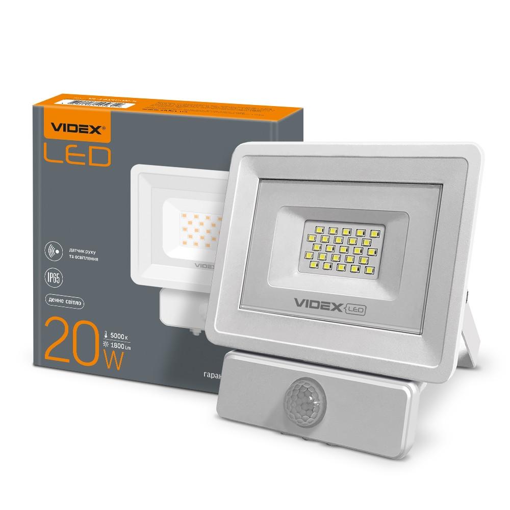 LED прожектор VIDEX 20W 5000K 220V Сенсорный  (VL-Fе205W-S)