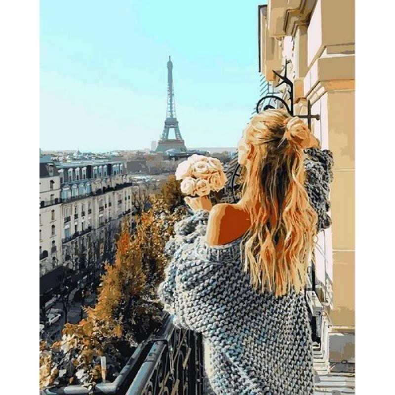 Картина рисование по номерам Babylon Парижский балкон 40х50см VP1097 набор для росписи, краски, кисти, холст
