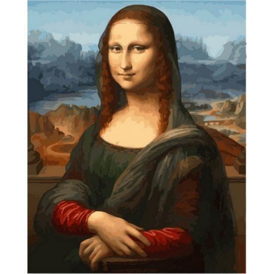 Картина рисование по номерам Babylon Мона лиза. Худ. Леонардо да Винчи 40х50см VP548 набор для росписи,