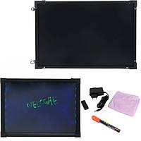 Флуоресцентная доска Fluorescent Board 50*70 c фломастером и салфеткой
