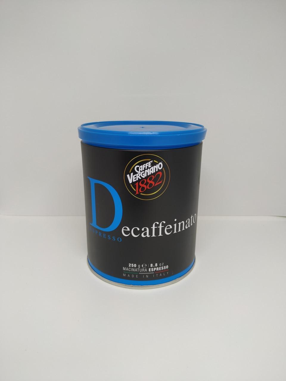 Caffe Vergnano 1882  Decaffeinato - Верньяно молотый без кофеина