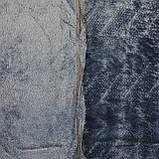 Плед однотонный полуторный серый Зигзаг 150x200см микрофибра, фото 2