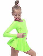 Боді купальник з спідницею гімнастичний для танців , балету