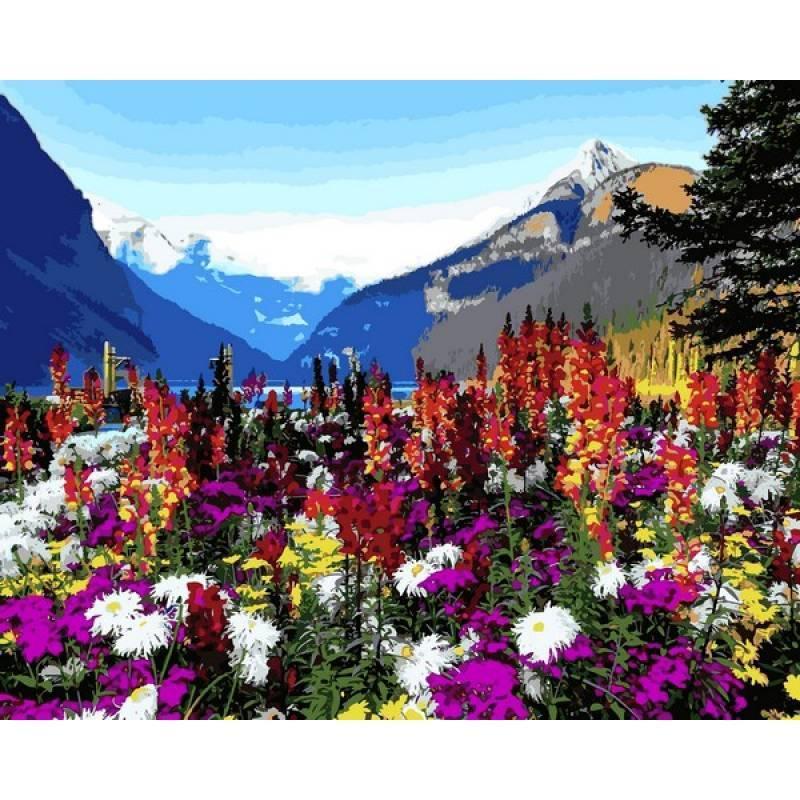 Картина рисование по номерам Babylon Альпийские луга 40х50см VP1088 набор для росписи, краски, кисти, холст