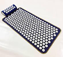 Массажный коврик Аппликатор Кузнецова + валик массажер для спины/шеи/ног/стоп/головы/тела OSPORT (n-0004)