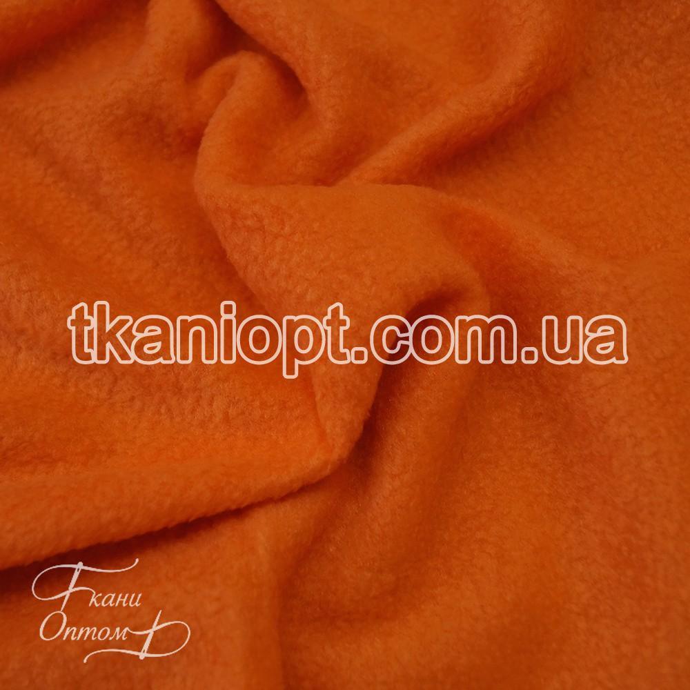 Ткань Флис антипиллинг 240 gsm (оранжевый)