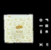 """286 Пакет Бумажный Белый """"Пицца""""  170х180х50мм (ВхШхГ) 40г/м²(1уп/100шт), фото 1"""