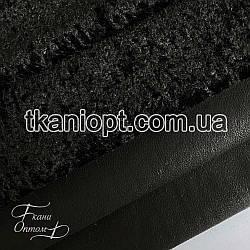 Ткань Дубляж каракуль (черный)