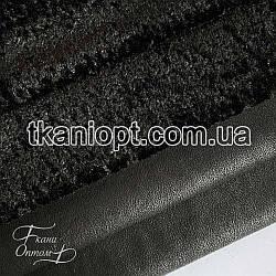 Ткань Дубляж каракуль гнянец (черный)