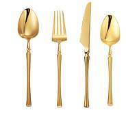 Набор столовых приборов REMY-DECOR золото Innsbruck из металла для дома и ресторана