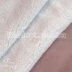 Ткань Дубляж на белом меху (пудра)