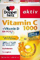 Биологически активная добавка Doppelherz aktiv Vitamin C 100 mg + Vitamin D3, 30 шт., фото 1