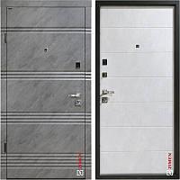 Дверь входная металлическая ZIMEN модель Fiesta, цвет бетон снежный, 850х2050