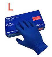 Медицинские перчатки из нитрила Mercator Medical Nitrulex Basic 100 шт L, фото 1