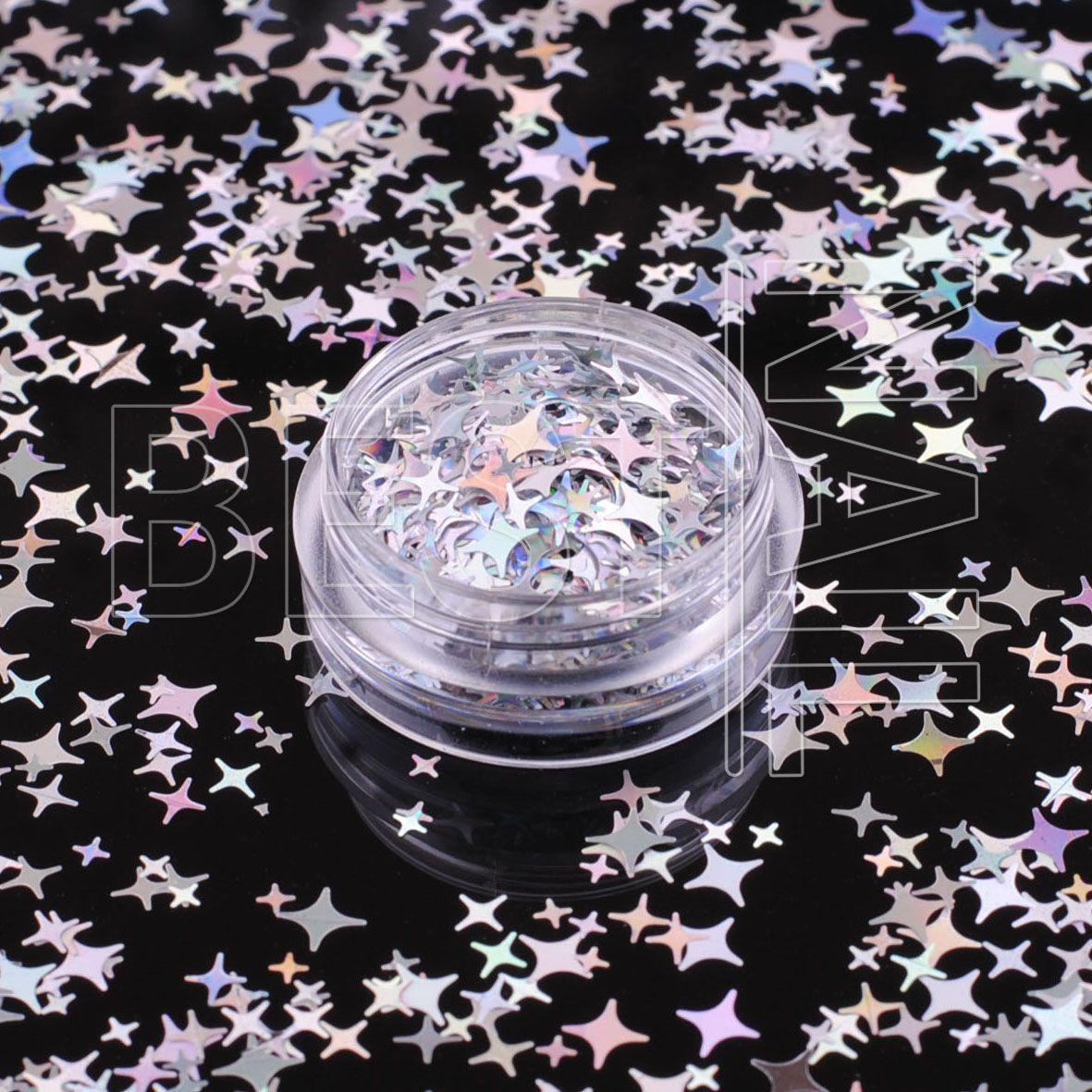 Дизайн для нігтів мікс зірочки №48 (хамелеон)