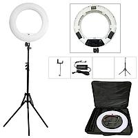 Кольцевой led свет, кольцевая лампа со стойкой Yidoblo FS-480II bi-color (3200-5500k) (Белая)