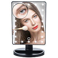 Зеркало настольное с подсветкой LED - бренд Large Led Mirror ЧЕРНОЕ