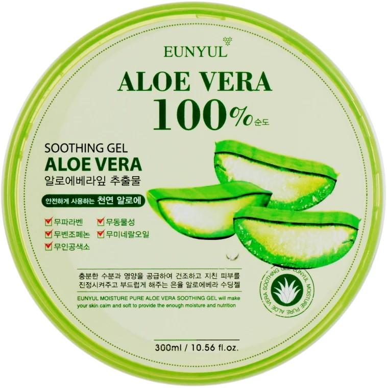 Универсальный гель для тела с алоэ вера Eunyul Aloe Soothing Gel 100% 300 мл (8809389438860)