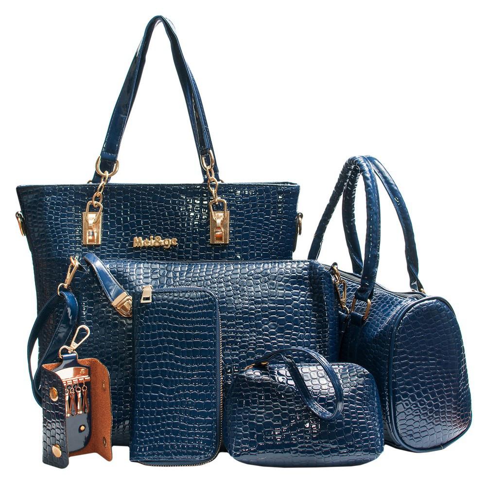 Женский набор сумок, синий набор сумок AL-6535-50