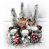 Красивая настольная композиция  подсвечник с оленями Подарок на новый год Рождество