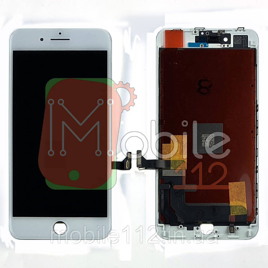 Экран (дисплей) Apple iPhone 8 Plus + тачскрин белый оригинал Китай переклей