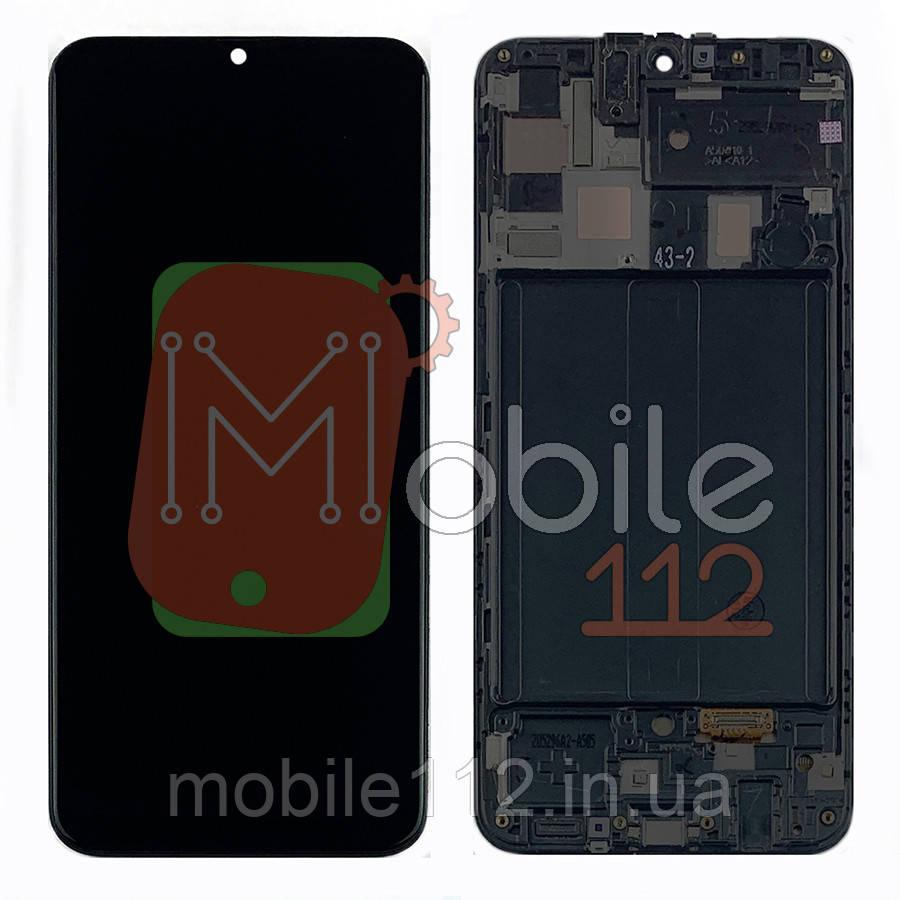 Экран (дисплей) Samsung Galaxy A50 2019 A505F + тачскрин черный с передней панелью оригинал Китай