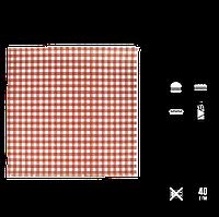 """Упаковочная Бумага Красная клетка """"Гамбургер"""" 300х320мм (ВхШ) 40г/м² 500шт (1773), фото 1"""