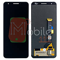 Экран (дисплей) Google Pixel 3A G020A G020E G020B + тачскрин черный оригинал Китай