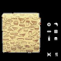"""45 Уголок бумажный """"Fast food""""  140х140мм (ВхШ) 40г/м² (1уп/500шт), фото 1"""