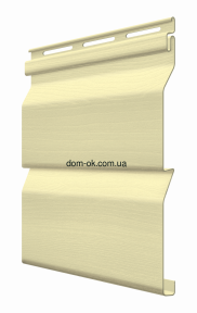 Фасадный виниловый сайдинг Fasiding цвет Мимоза 3,85 Х 0,255 м