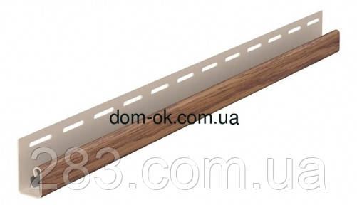 Планки комплектующие цвет Золотой дуб для ПВХ сайдинга Fasiding WoodHouse J-планка 3,05 м.