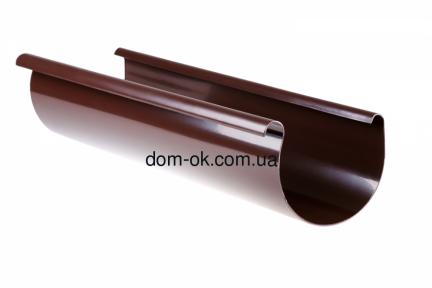 Profil Желоб пластиковый ø 90 мм, длина  3м RAL 8017 коричневый