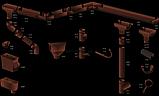 Profil Труба водосточная ø 75 мм, длина  3м, 4м RAL 8004 кирпичный, фото 8