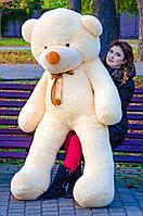 Мишка большой плюшевый 200 см, мягкий медведь, подарок для девушки на день рождения, персиковый