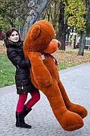 Мишка большой плюшевый 200 см, мягкий медведь, подарок для девушки на день рождения, коричневый