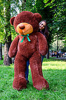 Мишка большой плюшевый 200 см, мягкий медведь, подарок для девушки на день рождения, шоколадный