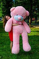Мишка большой плюшевый 200 см, мягкий медведь, подарок для девушки на день рождения, розовый