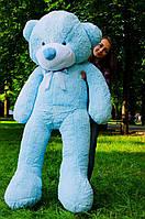 Мишка большой плюшевый 200 см, мягкий медведь, подарок для девушки на день рождения, голубой