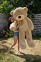 Мишка большой плюшевый 200 см, мягкий медведь, подарок для девушки на день рождения, мокко