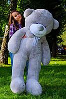 Плюшевый медведь большой 1,8 м, мягкий мишка, подарок для девушки, детям на день рождения, серый