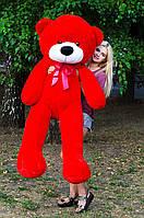 Плюшевый медведь большой 1,8 м, мягкий мишка, подарок для девушки, детям на день рождения, красный