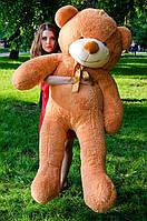 Плюшевый медведь большой 1,8 м, мягкий мишка, подарок для девушки, детям на день рождения, карамельный